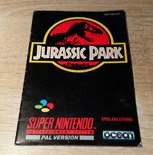 Super Nintendo (SNES) // Jurassic Park - Anleitung/Instructions // dt. PAL