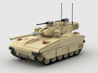 Custom LEGO MOC, Instructions ONLY, for Merkava II Main Battle Tank MBT