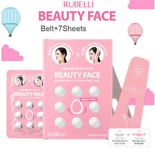 Rubelli Beauty V-Line Face Chin Neck balancing lift up belt 7 sheets mask pack