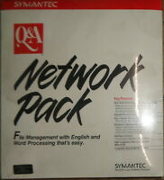 Q & A Network Pack, by Symantec, for Q&A 3.0, 1989. BRAND NEW - SEALED..