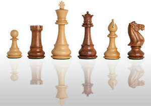 """The Classic Chess Set - Pieces Only - 6.0"""" King - Golden Rosewood"""