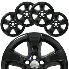 "Set of 4 fits Dodge Charger 2011-2014 Black 17"" Wheel Skins Hub Caps Rim Covers"