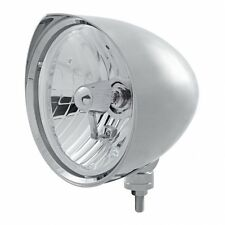 "UNITED PACIFIC 32526 - ""CHOPPER"" Headlight w/ Razor Visor - Crystal H4 Bulb"