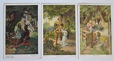 Three Schneewittchen German Snow White Fairy Tale Fantasy Postcards O Kubel