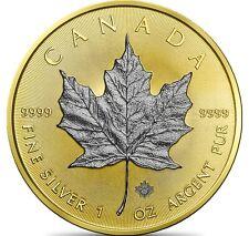 Kanada 5 Dollar 2020 Maple Leaf Gold-Rhodium-Edition