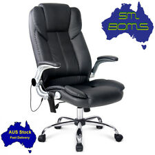 8 Point Massage Gamer Chair PU Leather Office Home Recliner Lumbar Comfy Exec
