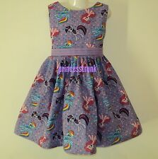 NEW Handmade Hasbro My Little Pony Cute Dress Custom Size 12M-14Yrs