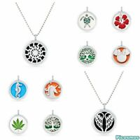 Hot 30mm alloy Aromatherapy Essential Oil Diffuser Perfume Locket Necklace