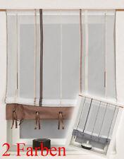 Scheibengardine Bistrogardine Raffrollo Bändchenraffrollo 2197 60/100 cm breit