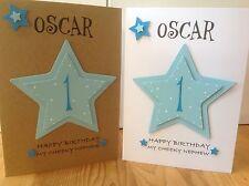 Handmade 1st birthday personalised card - Son, Grandson, Godson, Nephew 1st,2nd,