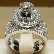 Filled-Diamonique Cut-3.25 Carat Ring-Size 7-New Cubic Zirconia 14K White Gold