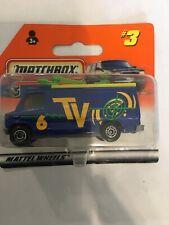 Matchbox 1997 #3 TV News Truck 6 TV New In Blister Pack