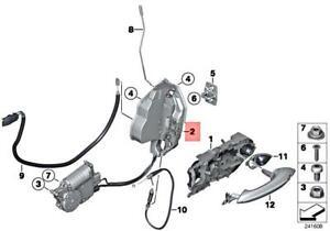 Genuine BMW M6 F12 F13 640d 640dX 640i 640iX Lock Complete Left 51217226197
