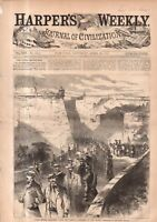 1869 Harpers Weekly April 10 - Cuban exiles cast out; Dogs, Poultry; Suez plans