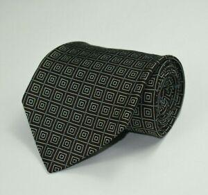 * Robert Talbott * Brown W/ Silver Black & Blue Checks 100% Silk Necktie Tie