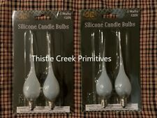 4 - Silicone Dipped Light Bulbs - 5 Watts - For Electric Candle Lamps