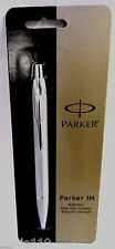 Parker IM Retractable Ballpoint Pen, Medium Point, Black Ink, Silver, Carded