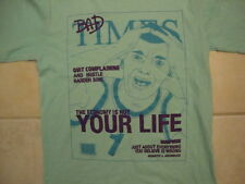 "Funny ""Bad Times"" Fake Magazine Cover ""Quit Complaining"" Light Blue T Shirt M"