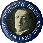 1916 Woodrow Wilson PROGRESSIVE POLICIES Campaign Pinback (5213)