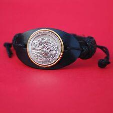 US 2012 Alaska Denali National Park Quarter Genuine Leather Bracelet NEW