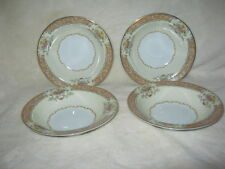 Noritake' China Set of 4 Berry Bowls with Exquiste Gold and Rose Floral Trim