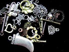 50g x mixte tibetan silver constatations, Perles, charms aléatoire S54
