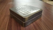 Antique Chinese Brass Ink Box With Engraved Calligraphy