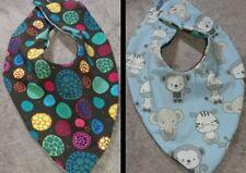 DaWanda Baby  Halstuch / Wendetuch hellblau bunt Tierbabys Mosaik Jersey