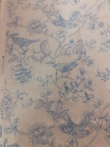Nightingale China Blue 3000mm Full Width 90% cotton 10% linen
