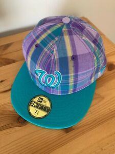 BNWT NEW ERA WASHINGTON NATIONALS 59FIFTY PLAID BASEBALL CAP Size 7&1/8 - 56.8CM