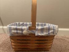 American Starburst Longaberger Oval Spring Basket Liner