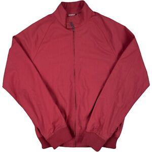 Ben Sherman Mens Heritage Jacket Size S Red Zip Front Harrington Jacket