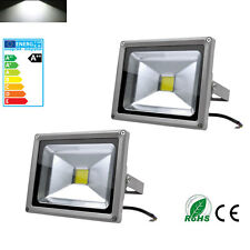 2X 20W Cool White LED Floodlight Wall Wash Outdoor Garden Landscape Lamp IP65