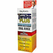 DR KATZ THERABRITE PLUS ULTRA WHITENING ORAL RINSE WITH XYLITOL 473M THERABREATH