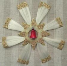 ALTER CHRISTBAUMSCHMUCK - STERN - GLASFASER - GOLDFLITTER - TANNENBAUM - 18 cm