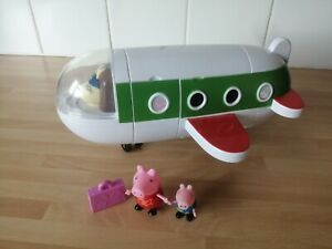 PEPPA PIG MRS RABBITS PLANE VEHICLE TOY WITH FIGURES NEW