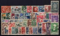 P129183/ FRANCE / LOT 1914 – 1937 USED - CV 302 $