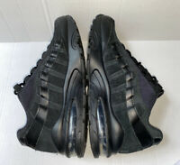 RARE! Nike Air Max 95 Big Kids 307565-055 Triple Black Athletic Shoes Size 6.5Y