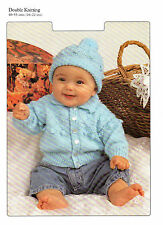 Baby Boys Jacket and Hat DK Knitting Pattern 99p