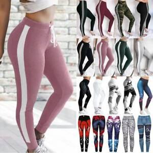 Women's High Waist Sports Yoga Pants Leggings Print Fitness Gym Stretch Trousers
