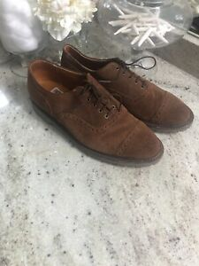 Walk-Over Suede Cap Toe  Brown Saddle Oxfords Mens size 9 M