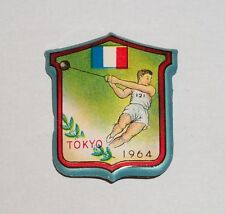 Tokyo 1964 Olympic Tin metal pin badge France Hammer Throw Athletics