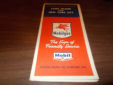 1955 Mobil Long Island/New York City Vintage Road Map