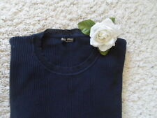 MIU MIU LONG SLEEVE COTTON SWEATER L~ MIU MIU MADE IN ITALY SWEATER 99% NEW