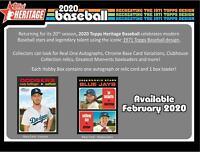 2020 Topps Heritage Baseball Factory Sealed 24 Pack Hobby Box - Fanatics