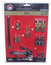 16 Piece Air Tool and Compressor Accessory Kit M-Style quick connects couplers