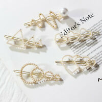 Fashion Women Girls Pearl Barrette Headdress Hairpin Hair Clip Hair Accessories
