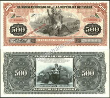 """NEW PANAMA LARGE SIZE """"SERIES OF 1918A"""" 500 BALBOA FANTASY ART NOTE BY REED BNC!"""
