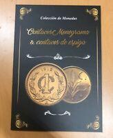 Fabulous & Scarce Mexico Monogram And Spike Cents Collecor Album Folder