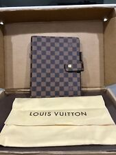 Louis Vuitton Damier Ebene Large Ring Agenda Cover GM Day Planner Authentic